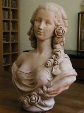 sculpture buste femme comtesse du Barry de Cafierri XVIIIstuc patiné terre cuite