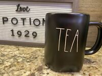 Rae Dunn Magenta Black Large Letter Farmhouse Artisan Beverage TEA Mug Cup