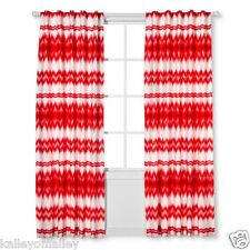 2 Pack of Sabrina Soto Ele Single Panel Curtain - White/Coral