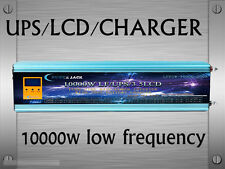 AU Stock~10000W LF Pure SineWave 24VDC/240VAC 50Hz PowerInverter LCD/UPS/Charger