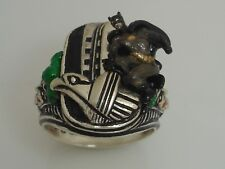 Batman the JOKER Chrysler Building Gargyole Sterling Silver ring  Large