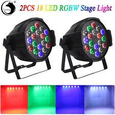 2Pcs Rgbw 18Led 270W Stage Par Lighting Dmx-512 Projector Party Dj Disco Lights