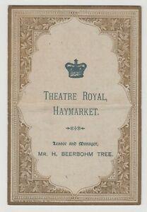 """ANTIQUE VICTORIAN ERA THEATRE PROGRAMME """"The Pompadour"""" Theatre Royal Haymarket"""