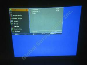 Elmo LCD Projector CRP-22 1024x768 2200 Lumens Only 206 Lamp Hours! Working! NR