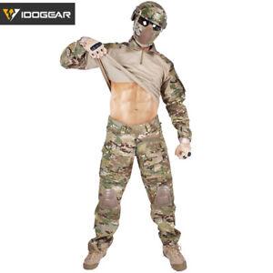 IDOGEAR G3 Combat Uniform Shirt & Pants Set BDU Military Clothing MultiCam Camo