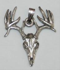 Buck Skull Deer Harris Fine Pewter Pendant USA Made