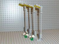 LEGO® City 4 Graue Straßenlaternen + Blumen Lampen Straße 10224 10232 kg NEU R46