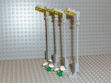 Lego ® City 4 grises faroles + flores/lámparas de calle 10224 10232 nuevo