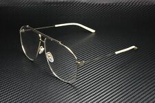 GUCCI GG0441O 002 Pilot Navigator Gold White 63 mm Men's Eyeglasses