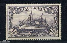 Kiautschou 1 1/2 $ Yacht 1905 ohne Wasserzeichen Michel 26 A Attest (S8498)