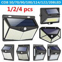 50-208LED Solar Powered Wall Light Motion Sensor Garden Waterproof Lighting Lamp