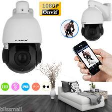 1080P HD 18X ZOOM CCTV Security PTZ Speed Dome IP Camera IR Night Vision Webcam