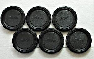 6 X Nikon style Body Caps for All Nikon DSLR/SLR/FILM Cameras. Fast U.S.Shipping