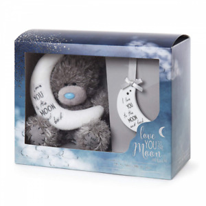 NEW Me to You Tatty Teddy Bear Love You to the Moon & Back Plush Plaque Gift Set