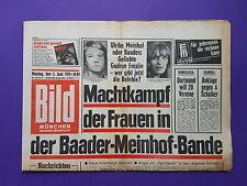 Bild Zeitung -  5. 6. / 1972 - Machtkampf der Frauen in der Baader-Meinhof-Bande