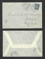 Early cover… 24 Dec 1911 Kotka Finland to Stockholm Sweden, Stockholm backstamps