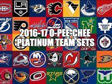 16/17 2016/17 O-Pee-Chee Platinum Team Set 8 Cards Boston Bruins Rask Hayes