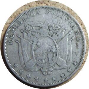 elf Bolivia 10 Centavos 1892 H