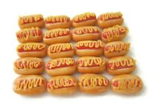 20 Loose Hot Dog Mustard Dollhouse Miniatures  Bakery Fast Food