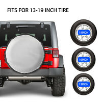 13-19inch Spare Tire Cover Protector Universal Fit for Jeep Trailer RV SUV Truck