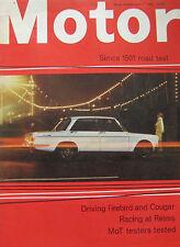 Motor 1/7/1967 featuring Simca, Mercury Cougar, Pontiac Firebird, Porsche 912