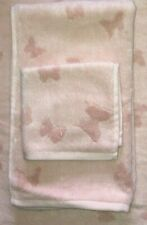 POTTERY BARN KIDS Monique Lhuillier Tencel Butterfly Jacquard Towels 2