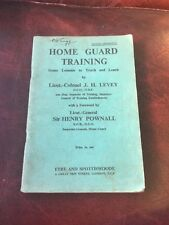 Home Guard Training Manual 1940 Original Not Repro Sir Henry Pawn all
