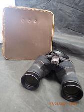 Vtg Black Scope Binoculars 7x35 W/Case Model 3010