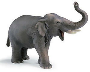 NEW SCHLEICH 14144 Indian Elephant Male - World of Wild Life Wildlife - RETIRED