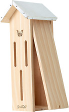 Skoolix Wooden Butterfly House for Gardens. Provides a Safe Haven for Butterflie
