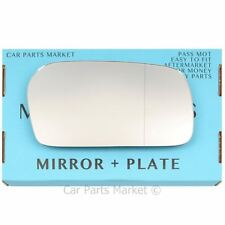 For Audi 100 91-94 Right side Aspheric wing door mirror glass with plate