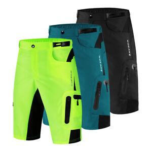 Mens Summer Cycling Shorts Mountain Bike Baggy Pants Detachable Padded Underwear