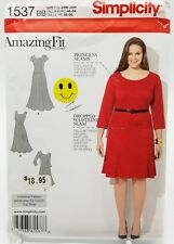 Plus Size Princess Seam Dress Pattern 1537 Size 20W 22W 24W 26W 28W New