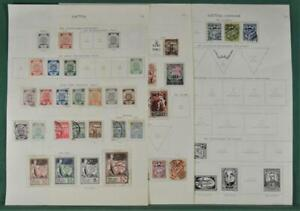 LATVIA STAMPS SELECTION ON 7 PAGES  (Y54)