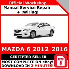 # FACTORY WORKSHOP SERVICE REPAIR MANUAL MAZDA 6 2012-2016 +WIRING