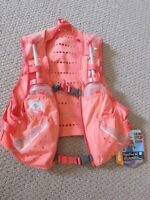 New Womens Nathan VaporHowe 4L Race Vest Hydration Pack Sz Medium Fusion Coral