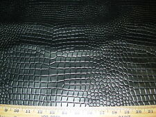 ~1 1/8YD~CROCODILE ~TOOLED FAUX LEATHER WITH BACKING UPHOLSTERY FABRIC FOR LESS~