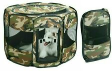 Pet Playpen Foldable Portable Dog/Cat/Puppy Kennel Sm Med Lg Pets Pop-Up 2 SIZES