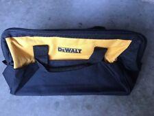 "DeWalt 21""x12"" 10 Pocket Heavy Duty Nylon Canvas Contractor Tool Bag Case Large"