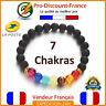 Bracelet Perle Naturelle 7 Chakras Pierres De Lave Lithothérapie Chakra Energie