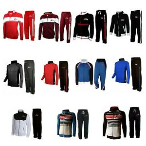 X-2 Men's Full Sports Fleece Tracksuit Sets All Season Zip Jacket Pants Joggers