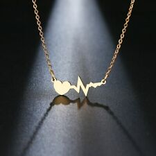 New Necklace For Women Gold|Silver Color Love Electrocard Pendant Chain Neckless