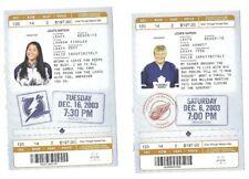 OLD Tickets Sat. Dec. 6 2003, Toronto vs Detroit Tues.Dec16 03 Toronto vs Tampa