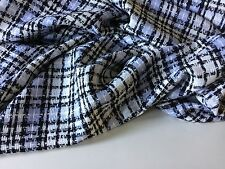 Designer Luxury Multi Colour Wool Check Boucle Fabric Seen Online Catwalk Images