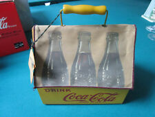 VINTAGE COCA COLA WOOD CARRIER BOX with fabric cover RARE! VINTAGE REPRO