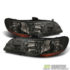 Smoke 1998-2002 Honda Accord 2/4Dr Replacement Headlights HeadLamps Pair 98-02