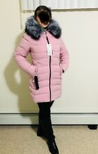 Women's Real Fur Hooded Jacket Size Small New with Tags