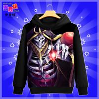 Anime OVERLORD Pullover Hoodie Long Sleeve Black Cosplay Sweatshirt Unisex #P55