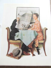 Norman Rockwell At the Breakfast Table Poster 16x11 Unsigned Reprint