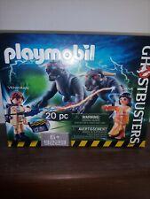 Playmobil ghostbusters 9223 venkman, dana e i cani demoniaci. Nuovo!